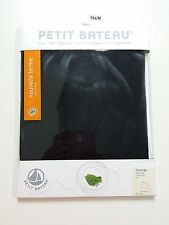 NEW FREE SHIP - Petit Bateau Girls Chemise T-Shirt - Black - 16 Yr/M - Cotton