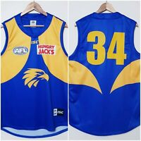 AFL West Coast Eagles 2018 Premiers Guernsey Mens 2XL #34 Football Jersey