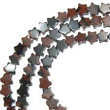 """NG2464f Brown Mahogany Obsidian 4mm Flat Star Natural Gemstone Beads 16"""""""