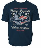 T Shirt Air Show Mens Airplane Vehicles Flying Legends Warbird legends S-3XL
