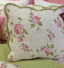 "Shabby Chic Cushion Pillow Cover Sham Bound Scalloped Edge 50cm sq 19.7"""