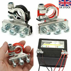 2pcs 12V Battery Terminals Connectors Clamps 3 Way Kit For Caravan Car Van UK