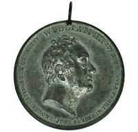 1831 William IV (IIII) Coronation Medal Westminster White Metal 45mm