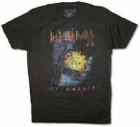 Def Leppard Pyromania Distressed Album Cover Black T Shirt New Official