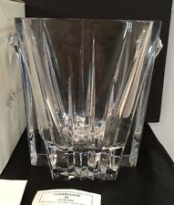 Nib Lenox Ovations Crosswinds Hand Cut Crystal Ice Bucket Made In Slovenia Nos