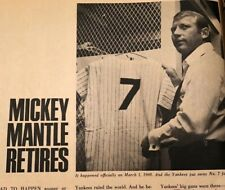 1970 SPORTS ANNUAL MICKEY MANTLE RETIRES WILLIE MAYS ARNOLD PALMER BILL RUSSELL