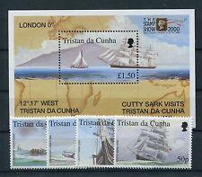 Tristan da Cunha 681/84 Block 34 postfrisch / Schiffe ....................1/2125