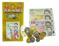 2 x Children's play money Set English notes and coins bulk pack by Henbrandt