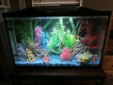 30 Gallon Fish Tank With Wood Stand And All Accessories & Supplies Pictured Puo