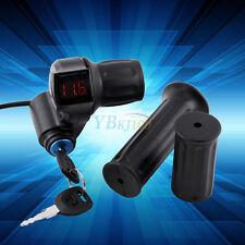 12-99V Gasgriff  E-Scooter Drehgriff LED Digital Spannungsanzeige mit Schlüssel