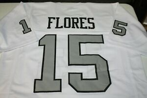 TOM FLORES #15 SEWN STITCHED ROAD WHITE THROWBACK JERSEY MENS SIZE XL