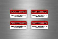 4x Sticker gps alarm system warning decal anti theft car vehicle security vinyl