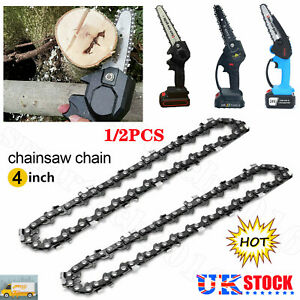 4in Mini Chainsaw Chain For Electric Chainsaw Woodworking Cutter Tool One-Hand