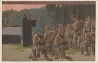 Prayers Before Battle German WW1 Patriotic Postcard (229)