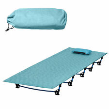 High Quality Folding Camping Bed Stretcher Ultralight Camp Cot Portable -Blue