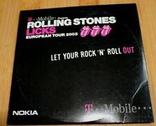 THE ROLLING STONES LICKS EUROPEAN TOUR 2003 NOKIA T-MOBILE PROMO MULTIMEDIA CD