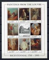 36296) Grenada 1993 MNH Paintings From Louvre S/S