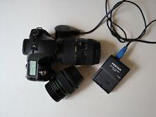 Pentax k10 DSLR camera with 18-55 mm & tamron 70-300 mm macro lens