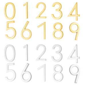 House Address Numeral Decals Door Number Signs 3D Mailbox Numbers Stickers