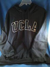 Preowned UCLA BRUINS UNISEX NAVY/WHITE HOODIE PULLOVER SWEATSHIRT - SIZE MEDIUM