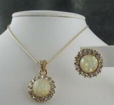 Faux Opal Set Park Lane Necklace Earrings
