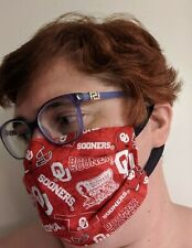 University of Oklahoma Face Mask - All Sizes - Handmade