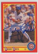 Dwight Smith 1990 Score autographed auto signed card Cubs