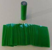125 pcs Pre-Cut 18650 Lithium Battery ELECTRIC GREEN PVC Heat Shrink Wraps Vape