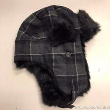 64a066ec58b Adult Apt. 9 Wool Blend Trapper Faux Fur Hat For Men in Grey Plaid -