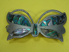 Large Vintage Sterling Silver Butterfly Hair Clip Beret 26.1 Grams Mexico Marked