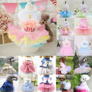 US Dog Skirt Pet Dress Small Dog Princess Tutu Dress Chihuahua Puppy Cat Clothes