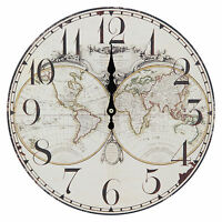 Ikea persby world map wall clock ebay thin 30cm wall clock with world map print gumiabroncs Gallery