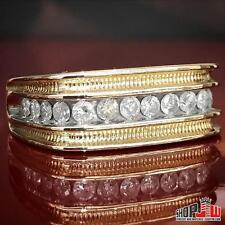 Mens 10k Yellow Gold Geniune Diamond 1.00ctw Ring Band Wedding Size 12.5 Round