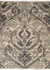 "Modern Hand-knotted Carpet 5'4"" x 7'5"" Oriental Wool/Silk Area Rug"