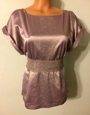 •• NWT Women's Size Large Twenty One Blouse Tie Back Lavender Zip Side Shirt
