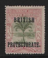 NORTH BORNEO  SG 129  3c  Opt British Protectorate  Mint no Gum