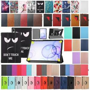 For Samsung Galaxy Tab S6 10.5 SM-T860 SM-T865 Various Leather Smart Cover Case