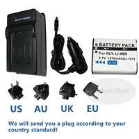Rechargeable Battery + charger for Olympus LI-90B/LI-92B,TG-1,TG-2,TG-3,TG-4