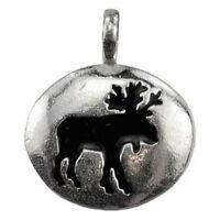 "Moose Animal Spirit Guide Pendant NEW 1"" Pewter Totem Amulet w/ Cord - US Made!"