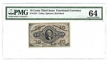 10 CENTS FRACTIONAL CURRENCY THIRD ISSUE PMG CHOICE UNCIRCULATED 64 FR-1251