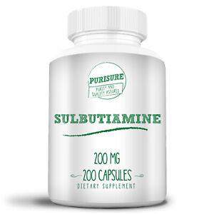 Purisure Sulbutiamine Capsule Dietary Supplement 200MG Nootropic 200 Capsules