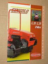 Prospectus Tracteur GOLDONI CINGOLO  brochure traktor tractor trattori prospekt