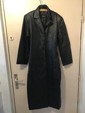 Manteau long femme 100% cuir d'agneau