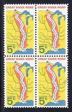 Great River Road Stamp Block of 4, Scott #1319, MNH
