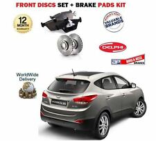 FOR HYUNDAI iX35 2.0 DT CRDi 2010--> NEW FRONT BRAKE DISCS SET AND DISC PADS KIT