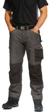 """MENS SNICKERS 3312 DURATWILL CRAFTSMEN TROUSERS GREY / BLACK 30W (6ft2"""") - BX15"""