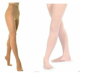 Convertible Footed Ballet Dance Tights Childrens Womens Tight Pink, Black, Tan