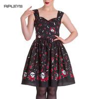 Hell Bunny Gothic Mid Length Dress ACONITE Skull Bats Stars All Sizes