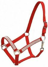 Studded Overlay Halter Color Red