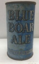New listing Blue boar ale flat top beer can